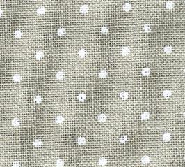 click here to view larger image of White Dots on Natural - Belfast Petit Point 32ct (Zweigart Belfast Linen 32ct)