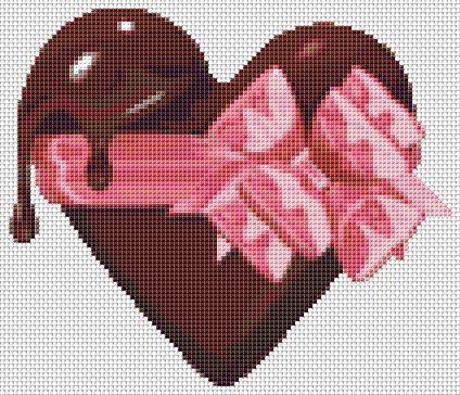 click here to view larger image of Chocolate Heart (Mini Chart) (chart)