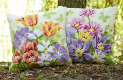 click here to view larger image of Pastel Flowers (Right) (counted canvas kit)
