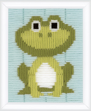 click here to view larger image of Frog (counted canvas kit)