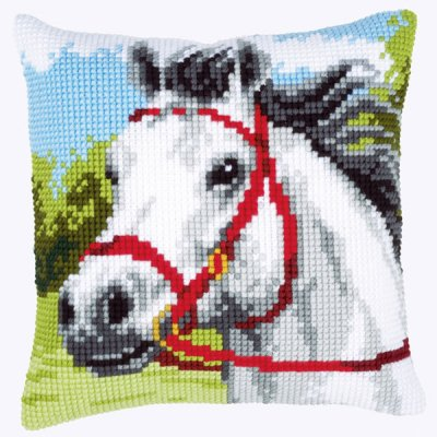 click here to view larger image of White Horse (counted canvas kit)