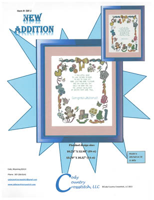 click here to view larger image of New Addition (birth sampler) (chart)