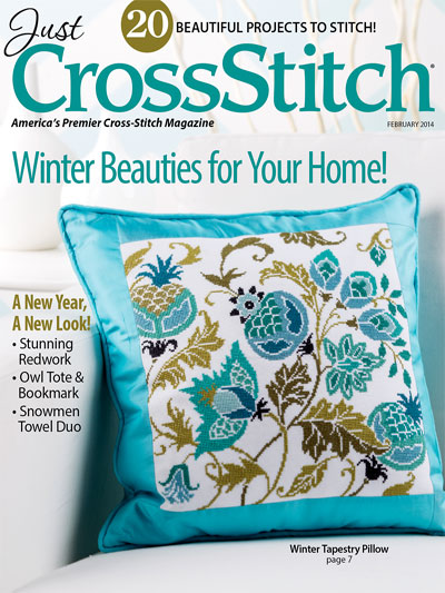 click here to view larger image of Just Cross Stitch - February 2014 (magazines)
