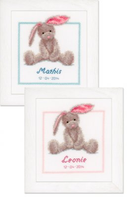 click here to view larger image of Cute Bunny (Boy or Girl) (counted cross stitch kit)