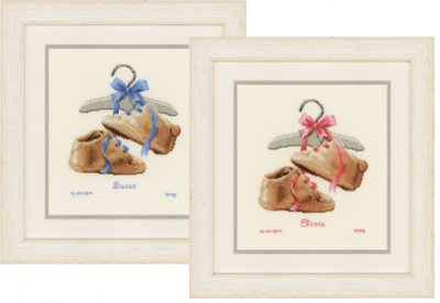click here to view larger image of My First Shoes (Boy or Girl) (counted cross stitch kit)