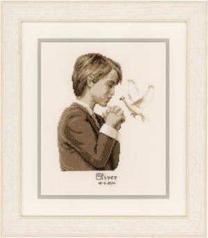 click here to view larger image of Confirmation Boy (counted cross stitch kit)