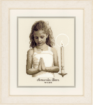click here to view larger image of Confirmation Girl (counted cross stitch kit)
