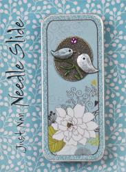 click here to view larger image of Kissing Birds Embellished Needle Slide (needlebox)