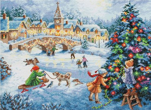 click here to view larger image of Winter Celebration (counted cross stitch kit)