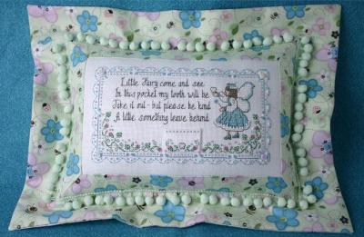 click here to view larger image of My Little Tooth Fairy Pillow (counted cross stitch kit)