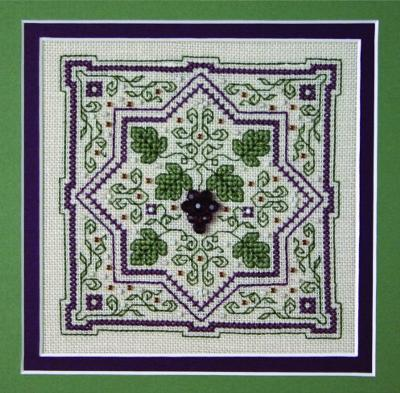 click here to view larger image of Grapes On the Vine (counted cross stitch kit)