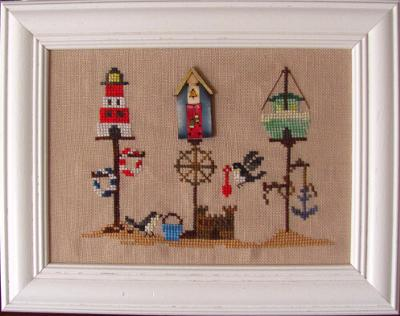 click here to view larger image of Summer Birdhouse (with button) (chart with charms/buttons)