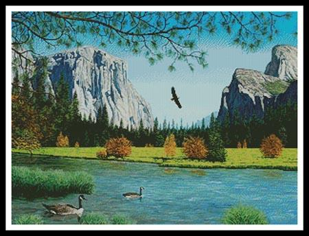 click here to view larger image of Autumn in Yosemite Valley (chart)