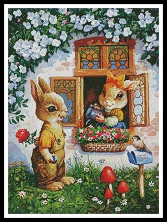 click here to view larger image of Rabbits Watering the Flowers (chart)