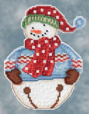 click here to view larger image of Jingle Snowbell (counted cross stitch kit)