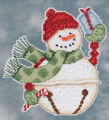 click here to view larger image of Freezy Snowbell (counted cross stitch kit)