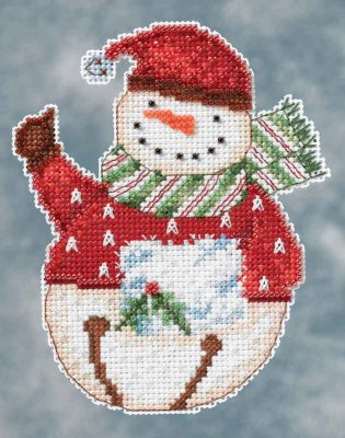 click here to view larger image of Flurry Snowbell (counted cross stitch kit)
