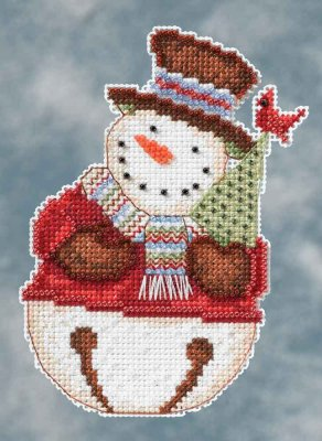 click here to view larger image of Frank Snowbell (counted cross stitch kit)