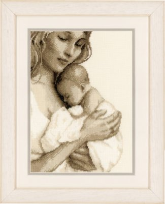 click here to view larger image of Mother and Child (counted cross stitch kit)