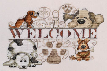 click here to view larger image of Dogs Welcome (chart)