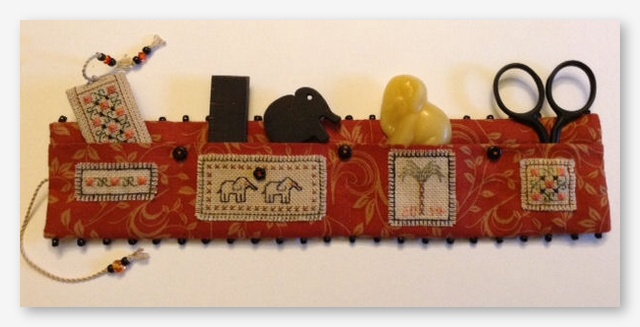 click here to view larger image of Elephants Walk Needle Roll (counted cross stitch kit)