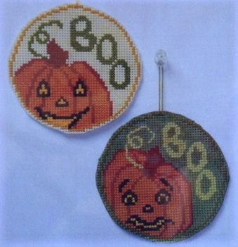 click here to view larger image of Circle Ornaments - Pumpkins/The Boo Team (chart)