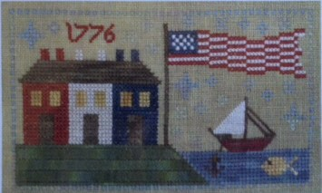 click here to view larger image of 1776 Harbor (counted cross stitch kit)