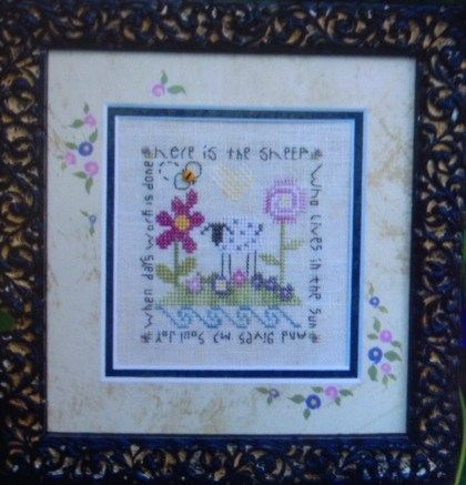 click here to view larger image of Garden Sheep (counted cross stitch kit)
