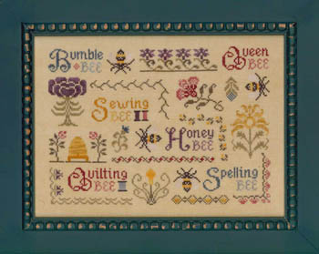 click here to view larger image of Antique Bee Sampler (chart)