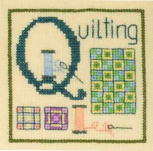 click here to view larger image of Q is for Quilting (chart)