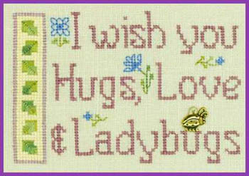 click here to view larger image of Hugs Love and Ladybugs (chart)