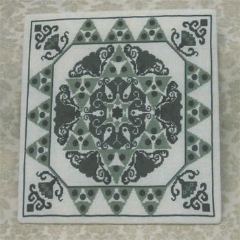 click here to view larger image of Green Art Nouveau Tile (chart)