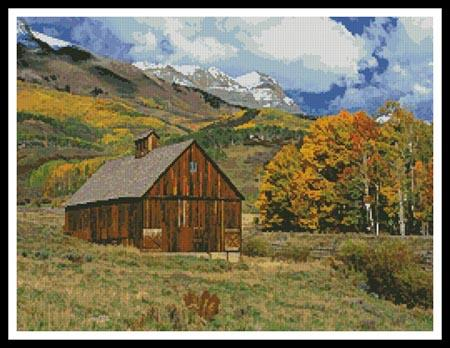 click here to view larger image of Mountains and Barn (chart)