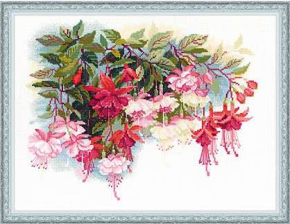 click here to view larger image of Fuschia (counted cross stitch kit)