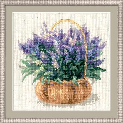 click here to view larger image of French Lavender (counted cross stitch kit)