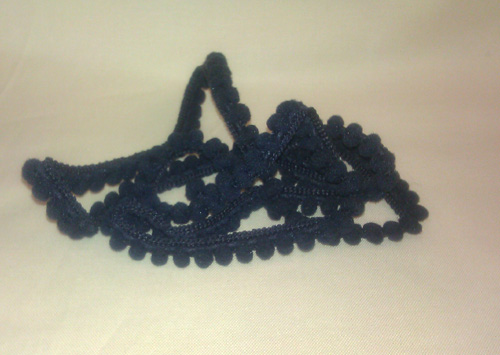 click here to view larger image of Black Pom Pom - 1 Yard (fiber)