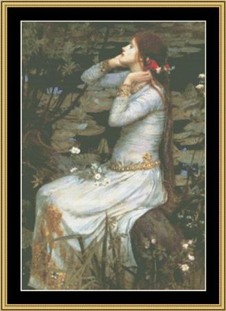 click here to view larger image of John Waterhouse Collection - Ophelia (chart)