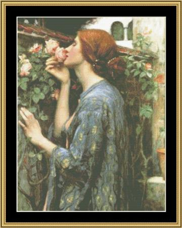 click here to view larger image of John Waterhouse Collection - Soul of a Rose (chart)