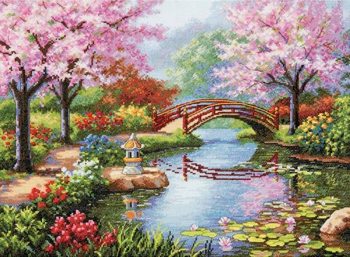 click here to view larger image of Japanese Garden (counted cross stitch kit)