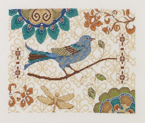 click here to view larger image of Bluebird (counted cross stitch kit)
