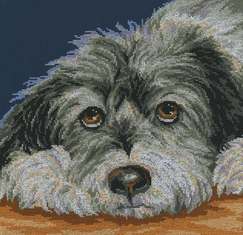 click here to view larger image of Dog Melancholy (counted cross stitch kit)