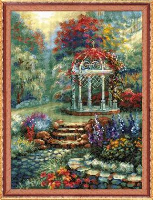 click here to view larger image of Flower Arbor (counted cross stitch kit)