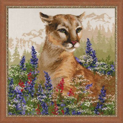 click here to view larger image of Cougar (counted cross stitch kit)