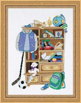click here to view larger image of Boy's Locker (counted cross stitch kit)