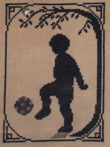click here to view larger image of Summer Memories Silhouette - Soccer Player (chart with charms/buttons)
