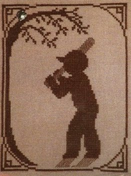click here to view larger image of Summer Memories Silhouette - Baseball Player (chart with charms/buttons)