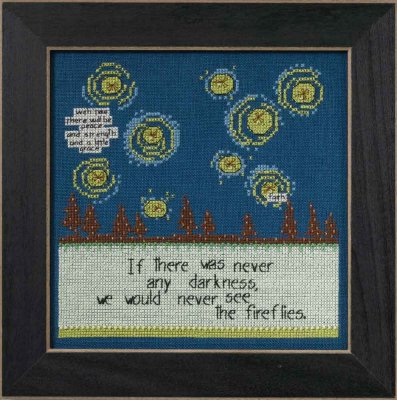click here to view larger image of Fireflies - Curly Girl series (counted cross stitch kit)