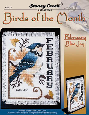 click here to view larger image of Birds of the Month - February (Blue Jay) (chart)