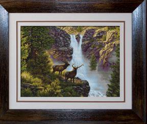 click here to view larger image of At The Waterfall (counted cross stitch kit)