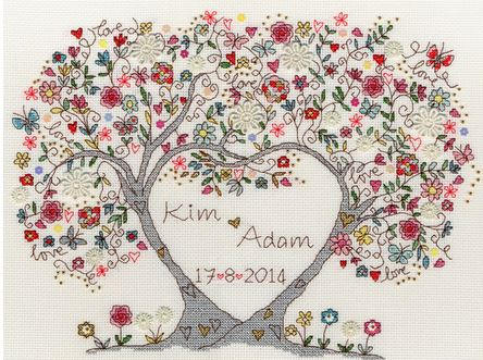 click here to view larger image of Love Blossoms (counted cross stitch kit)